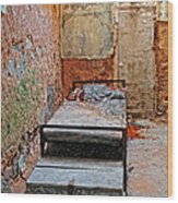 Old Prison Cell Wood Print