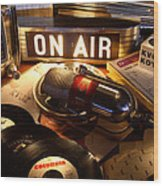 Old School Radio Wood Print