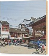 Old Town Of Shanghai China Wood Print
