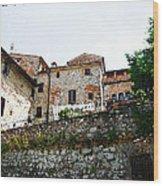 Old Towns Of Tuscany San Gimignano Italy Wood Print