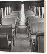 Old Train Seats Wood Print