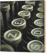 Old Typewrater Wood Print