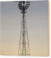 Old Windmill At Sunset Near New Wood Print