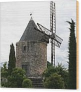 Old Provencal Windmill Wood Print
