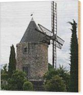 Old Provencal Windmill Wood Print