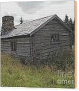 Old Wooden Cabin  Wood Print