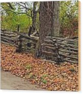 Old Wooden Fence Wood Print