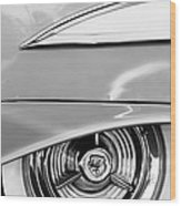 Oldsmobile 98 Wheel Emblem Wood Print