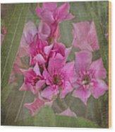 Oleander Cluster Wood Print
