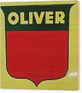 Oliver Sign Wood Print