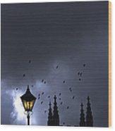 On A Cold Dark Night Wood Print