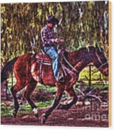 On The Ranch Wood Print