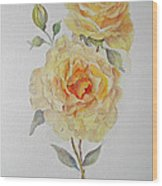 One Rose Or Two Wood Print