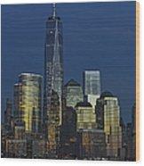 One World Trade Center At Twilight Wood Print