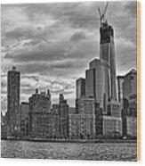 One World Trade Center Bw Wood Print