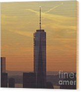 One Wtc From Top Of The Rock Wood Print