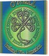 O'neill Ireland To America Wood Print