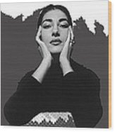 Opera Singer Maria Callas  Cecil Beaton Photo No Date-2010 Wood Print