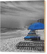 Orange Beach In Alabama Wood Print