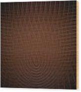 Orange Fractal Background Wood Print