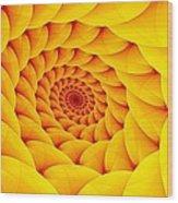 Yellow Pillow Vortex Wood Print