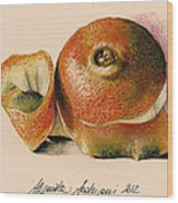 Orange..navel Wood Print