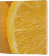 Oranges Wood Print by Darren Greenwood