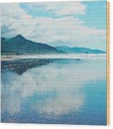Oregon Coastline At Cannon Beach Wood Print