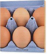 Organic Eggs Wood Print