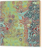 Organic Optical Illusion 5 Wood Print by The Art of Marsha Charlebois