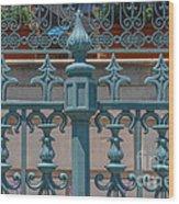 Ornate Fence Wood Print