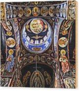 Orthodox Church Interior Wood Print by Elena Elisseeva