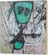 Other People's Art - Graffiti On The Berkeley Pier Wood Print