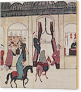 Ottoman Bazaar Wood Print