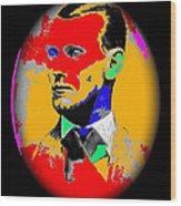 Outlaw Gang Leader Train Bank Robber Murderer Jesse James Collage 1875-2009 Wood Print