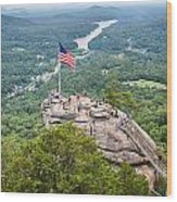 Overlooking Chimney Rock And Lake Lure Wood Print