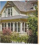 Oysterville House 6 Wood Print