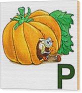 P Art Alphabet For Kids Room Wood Print