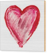 Painted Heart - Symbol Of Love Wood Print