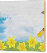 Painting Daffodils Wood Print