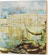 Palace And Park Of Versailles Wood Print