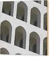 Palazzo Della Civilta' Romana Wood Print