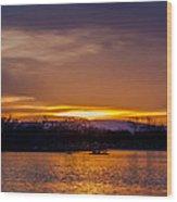 Palisade Sunset Wood Print