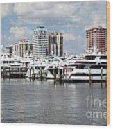 Palm Beach Docks Wood Print