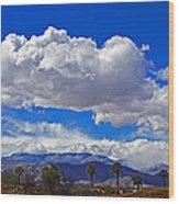 Palm Desert Clouds Wood Print