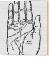 Palmistry Chart, 1885 Wood Print