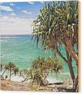 Pandanus Palm Tree Wood Print
