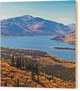 Panorama Of Fish Lake Yukon Territory Canada Wood Print