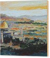 Panorama Of Jerusalem Wood Print