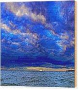 Paradise Is Blue Wood Print